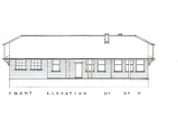 1 Blue Cottage Front Elevation Plan 26th May, 1938.