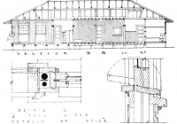 3 Blue Cottage  Section B.B.  Elevation. Plan 26th May, 1938