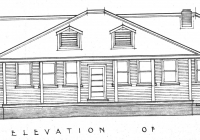 1 Brown Cottage Front Elevation Plan May,1937.