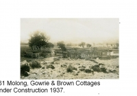 7a Brown Cottage under construction to the left