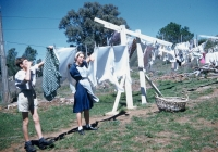 44 Brian Kirkby & Janet Wilcox Hanging out the washing