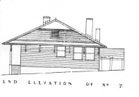 Blue Cottage End Elevation Plan 26th May, 1938.