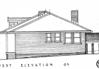 Brown Cottage West Elevation Plan May,1937