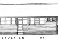 Rear Elevation of Molong Gowrie & Brown Cottage.