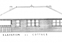 Rose Cotage Rear Elevation, Feb, 1938.