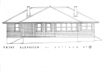 Rose Cottage Front Elevation Plan. Feb.1938.