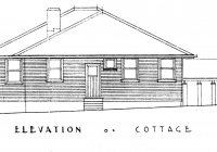 Rose Cottage Side Elevation, Feb, 1938.