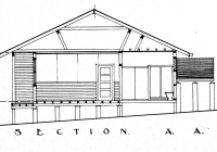 Section A A of Brown Cottage.