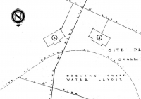 Site Plan For Gowrie Cottage May, 1937.