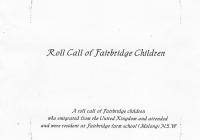 fairbridge roll call