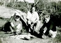 John Barber, Mr Woods & Alan Taylor at Ophir