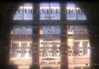 1357 Gloucester House Plaque