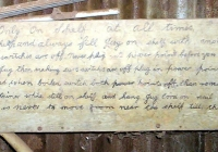 1375 Sign Still attached to the Dack of a Shed on the Farm