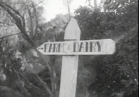 1379 Sign that use to point to the Farm & Dairy 1964