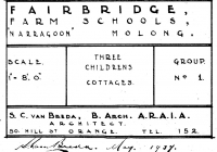 10 Gowrie Cottage Plans Dated May, 1937