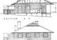 2 Green Cottage Section A.A. & End Elevation 26th May,1938.