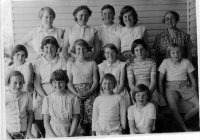8 Lilac Cottage Girls About 1956.