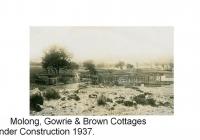 10 Gowrie, Molong & Brown Cottages under construction
