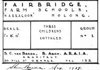 9 Molong, Gowrie & Brown Cottages Plan May 1938