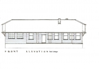 1 Red Cottage Front Elevation Plan 26th May, 1938.