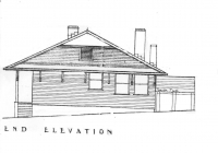4 Red Cottage End Elevation Plan 26th May, 1938.