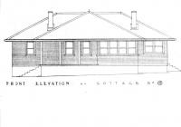 1 Rose Cottage Front Elevation Plan. Feb.1938.