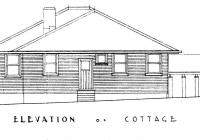 2 Rose Cottage Side Elevation, Feb, 1938.